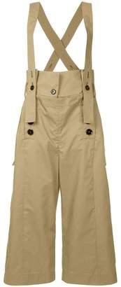 Eudon Choi wide leg suspender trousers