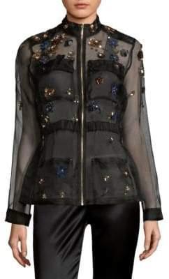 Elie Tahari Katya Sheer Silk Jacket