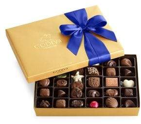 Godiva Chocolatier Assorted Chocolate Gold Gift Box, Royal Ribbon, 36 pc.