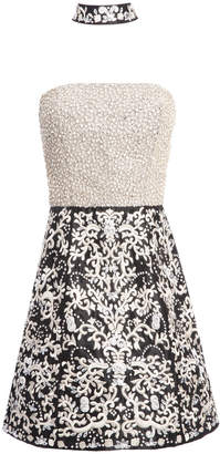 Alice + Olivia PAIGE CRYSTAL GOWN WITH CHOKER