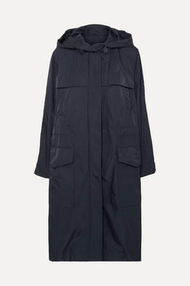 Joseph Horton Hooded Shell Raincoat - Navy