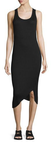 rag & bone/JEAN Sleeveless Ribbed Midi Dress, Black