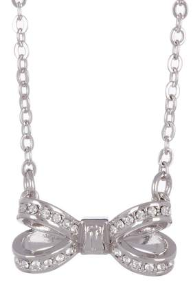 Ted Baker Mini Opulent Swarovski Crystal Accented Bow Pendant Necklace