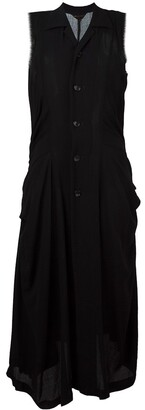 Comme des Garcons Pre-Owned long frayed edge dress