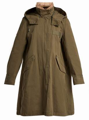 Ys Army - Hooded Cotton Gabardine Parka - Womens - Khaki Multi