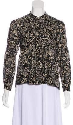 Etoile Isabel Marant Floral Print Pleated Top