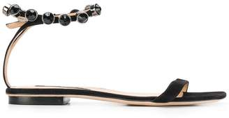 Sergio Rossi crystal embellished sandals