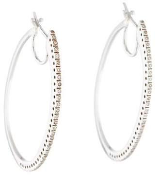 18K Diamond Oval Hoop Earrings
