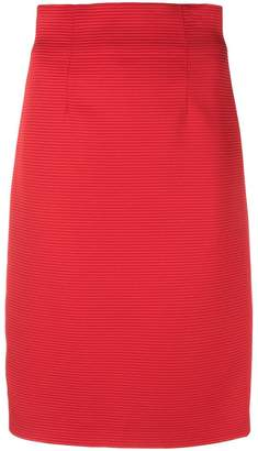 Versace ribbed pencil skirt