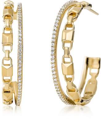 Michael Kors Mercer Link 14K Gold Plated Women's Earring