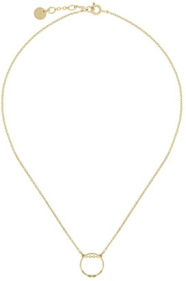French Connenction Open Ring Necklace