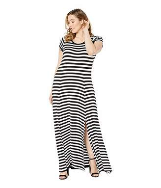MICHAEL Michael Kors Size Stripe Slit Maxi Dress