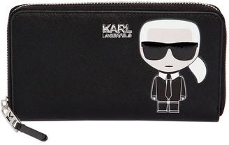 Karl Lagerfeld Paris (カール ラガーフェルド) - KARL LAGERFELD K/IKONIK フェイクレザー 長財布