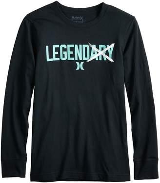 "Hurley Boys 8-20 Legend"" Long Sleeve Graphic Tee"