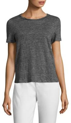 Eileen Fisher Linen Roundneck Short Sleeve Top $108 thestylecure.com