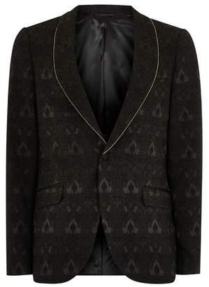 Topman Mens Black Ultra Skinny Tuxedo Jacket