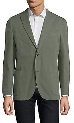 Boglioli Men's Olive Hopsack Jacket