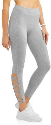 Laundry by Shelli Segal French Women's Legging With Side Seam Lattice Detail