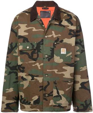 R 13 camouflage print jacket