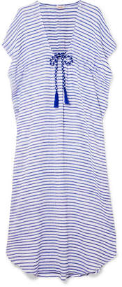 Jaline - Camilla Striped Cotton Maxi Dress - Blue