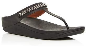 FitFlop Women's Fino Chain-Embellished Platform Flip-Flops