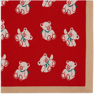 Knit bears baby blanket $395 thestylecure.com