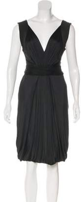 Alberta Ferretti Sleeveless Knee-Length Dress w/ Tags Black Sleeveless Knee-Length Dress w/ Tags