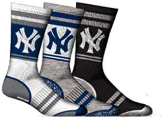 New York Yankees SPORTICUS Men's MLB 3-Pack Crew Socks