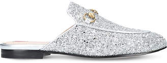 Gucci Princetown glitter slippers