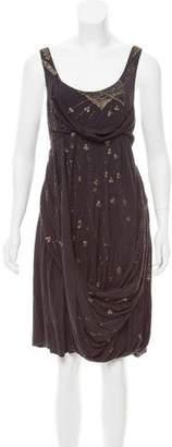 AllSaints Draped Embellished Dress