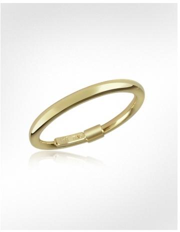 Forzieri Thin 14K Hollow Yellow Gold Ring