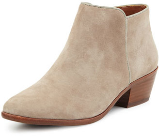 Sam Edelman Petty Suede Ankle Bootie, Putty $135 thestylecure.com