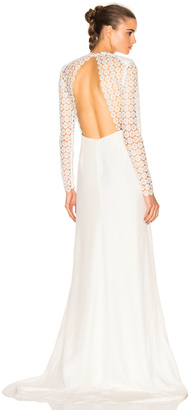 self-portrait Eva Backless Silk Wedding Dress $1,350 thestylecure.com