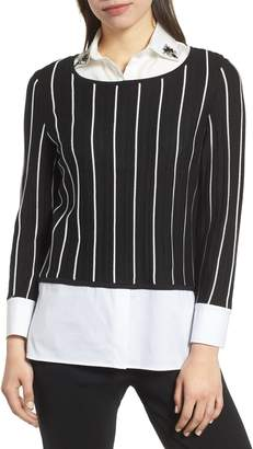 Ming Wang Layered Tunic Top