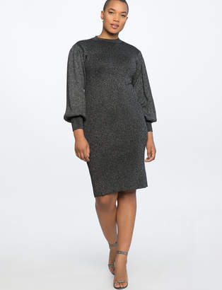 Puff Sleeve Metallic Dress