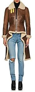 Givenchy Women's Shearling Asymmetric Jacket-Brown