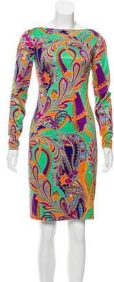 Ralph Lauren Black Label Abstract Print Silk Dress