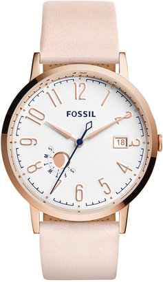 Fossil Women's Vintage Muse Blush Leather Strap Watch 40mm ES3991 $125 thestylecure.com