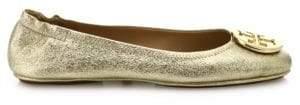 a2009d44fc90 ... Tory Burch Minnie Travel Metallic Leather Ballet Flats