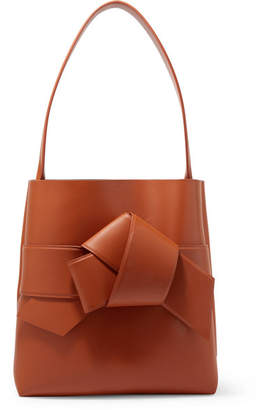 Acne Studios Musubi Large Knotted Leather Shoulder Bag - Tan