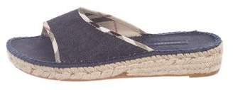 Burberry Denim Slide Sandals