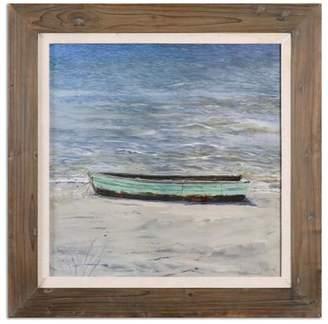 Soft Surroundings Boat on the Shore Framed Art