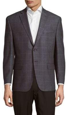 Michael Kors Classic Fit Checked Windowpane Sportcoat
