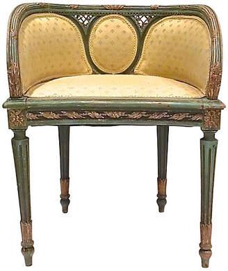 One Kings Lane Vintage Antique Vanity Bench - Vermilion Designs