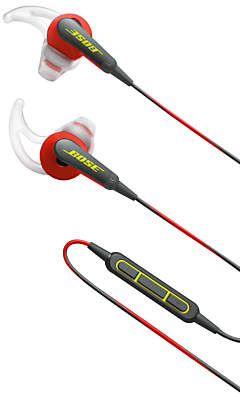 Bose SoundSportTM Sweat & Weather-Resistant In-Ear Headphones With 3-Button In-Line Remote and Carry Case