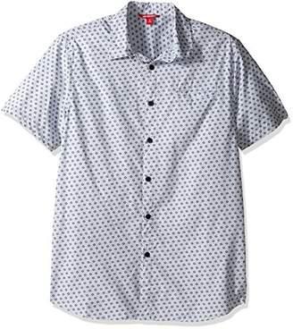 UNIONBAY Men's Classic Short Sleeve Poplin Button-up Woven Shirt