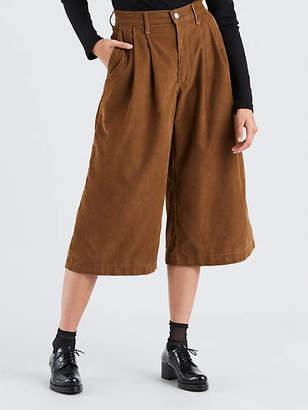 Levi's Wide Leg Pleated Corduroy Pants