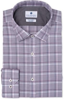 Ryan Seacrest Distinction Men's Ultimate Slim-Fit Non-Iron Performance Stretch Plaid Dress Shirt