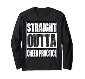 Vintage Straight Outta Cheer Practice Gift Long Sleeve