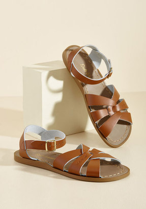 Salt Water Leather Sandal in Tan in 4 UK $40.95 thestylecure.com